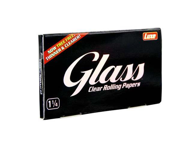 Luxe GLASS Cellulose Papers King 1 1/4 Size 24 Hefte je 50 Blatt