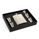 Flachmann-Set Chrom 7oz