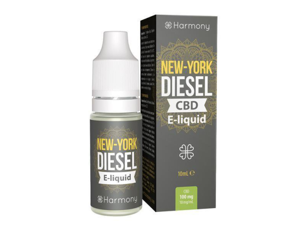 Harmony CBD Liquid - Sorte: New York Diesel - 600mg CBD - 10ml - nikotinfrei