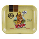 RAW Rolling Tray Drehunterlage Metall - Girl,  LARGE 34 x...