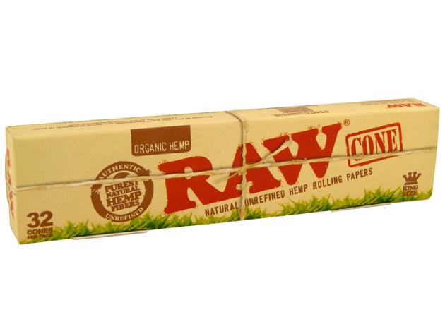 RAW Organic Cones King Size 109mm pre-rolled, 32er Packung