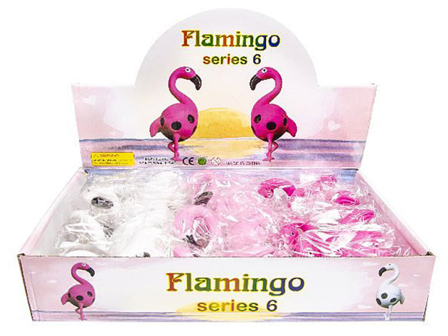 Quetschball Flamingo, 8,5 x 6cm, 12er Display