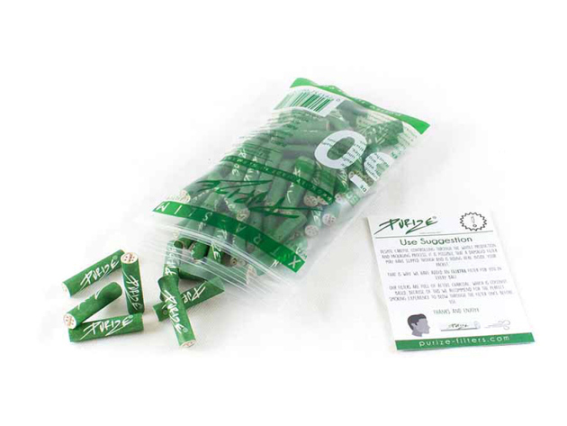PURIZE Aktivkohlefilter Xtra Slim Size Green 5,9mm, 50er Packung