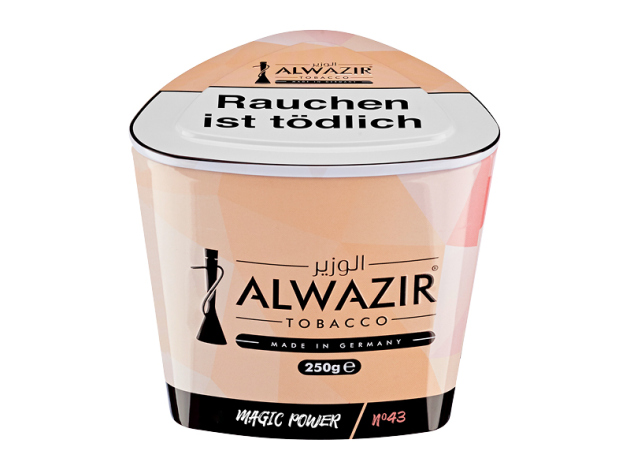 Al Wazir Tabak 250g - No. 43 MAGIC POWER (Pfirsich, Orange, Limette)