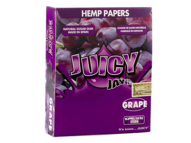 Juicy Jay`s Grape  King Size Slim 24 Hefte je 32 Blatt