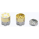 Grinder Siber-Gold-Optik 3-tlg. 4,6x4,1cm