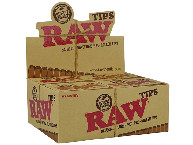 RAW - Filter Tips Prerolled (vorgerollt) 20 Schachteln je 21 Tips